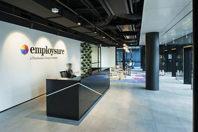 Australian Company Incorporates Niche Modern Office Lighting in Lobby