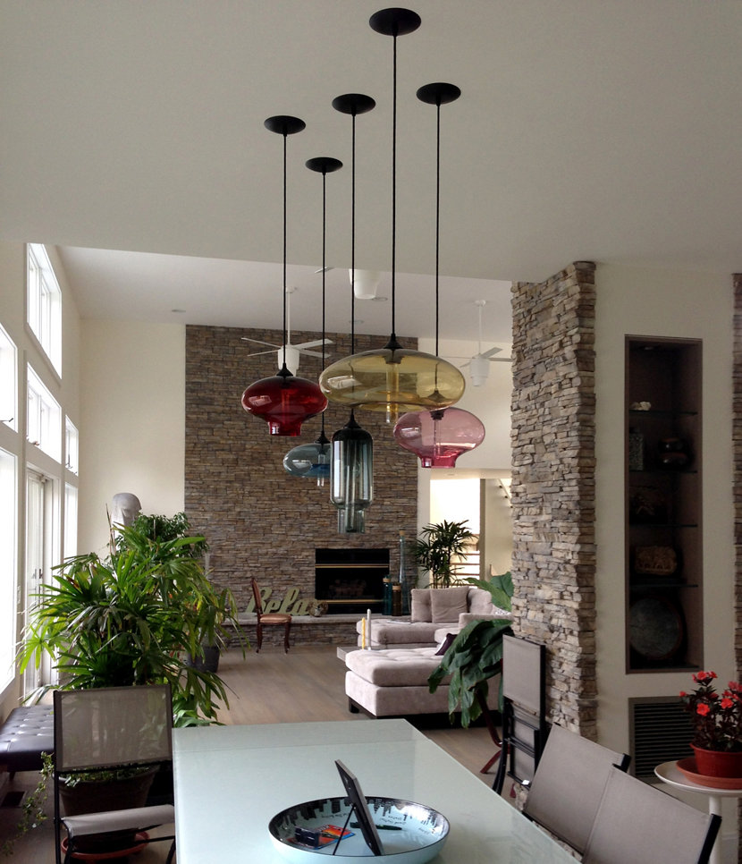 Modern Lighting Installations - Modern Dining Room Pendant Lighting