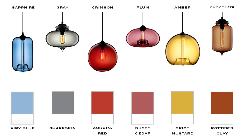 Pantone Fall Color Trends and Niche Signature Glass Colors