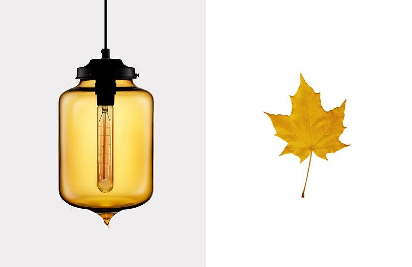 yellow glass pendant light