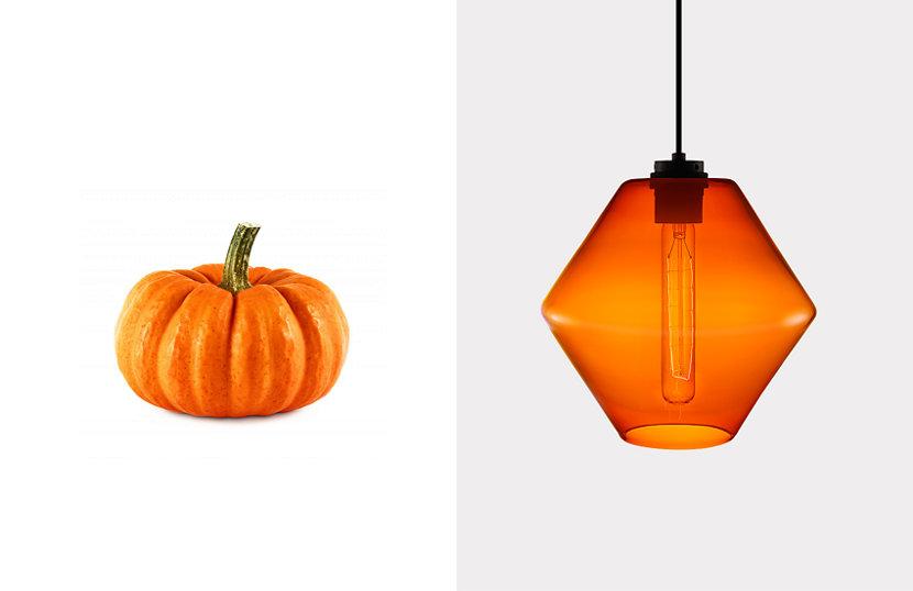 orange glass pendant light