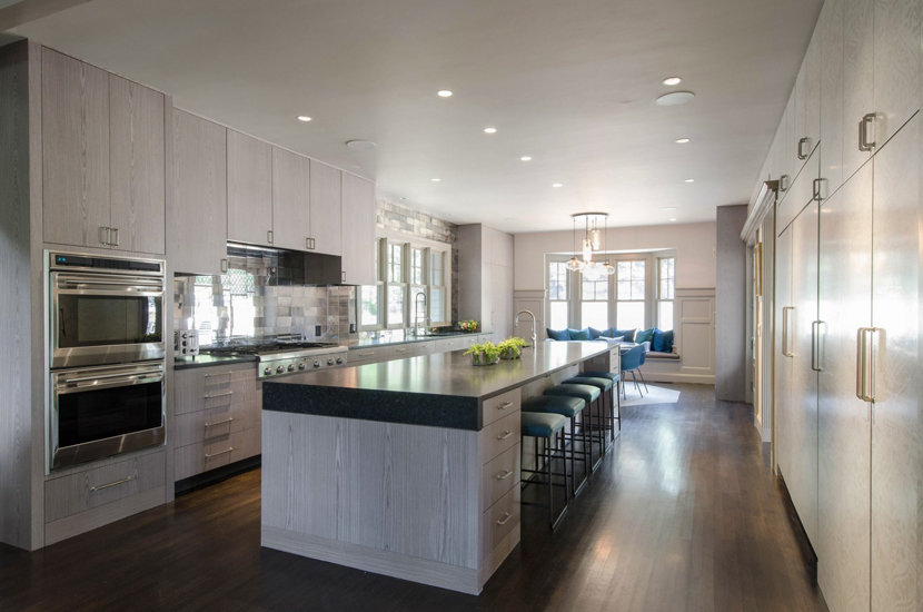 Full View of Modern Kitchen in Massachusetts