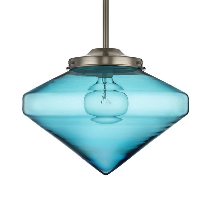 blue nostalgic glass pendant lighting