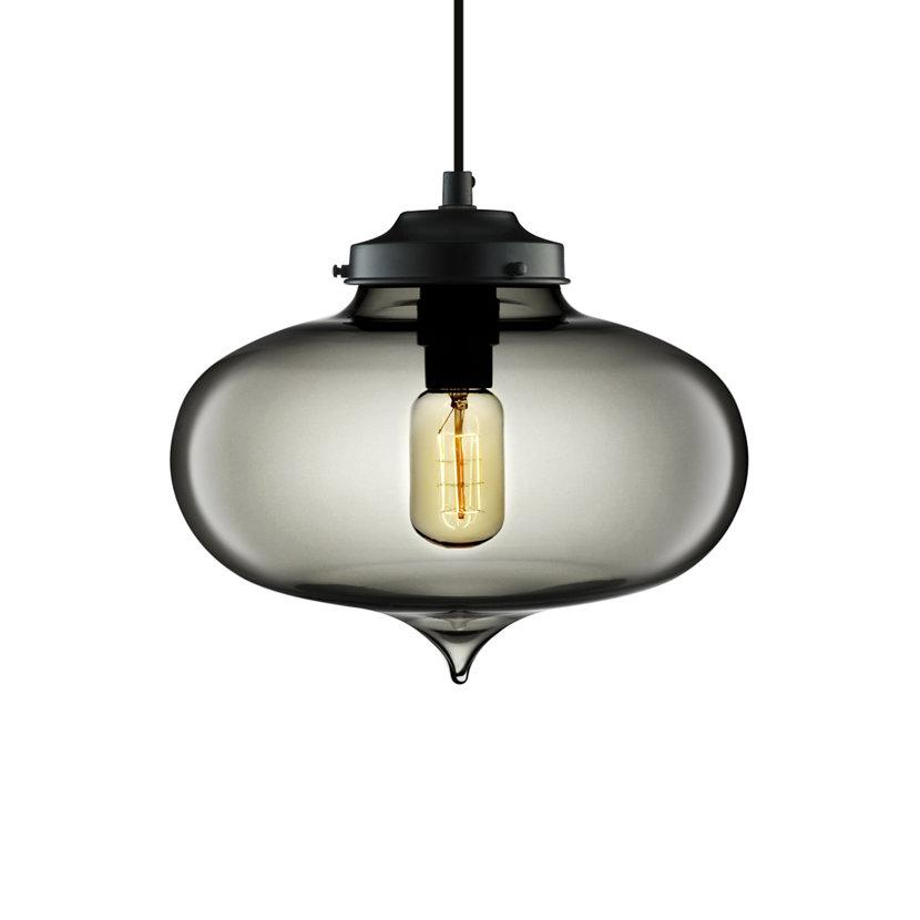 modern gray glass pendant light