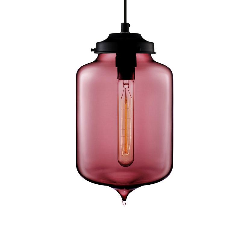 modern plum glass pendant light
