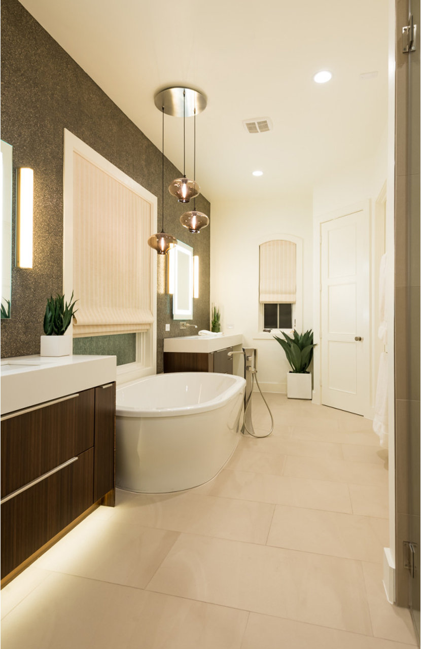 Modern bathroom pendant lighting - photo#44