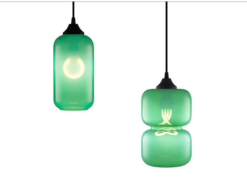 Green Pendant Lights - Helio and Pinch