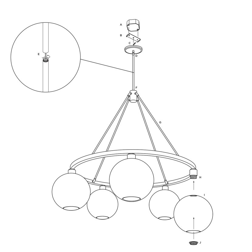 how to hang a modern chandelier