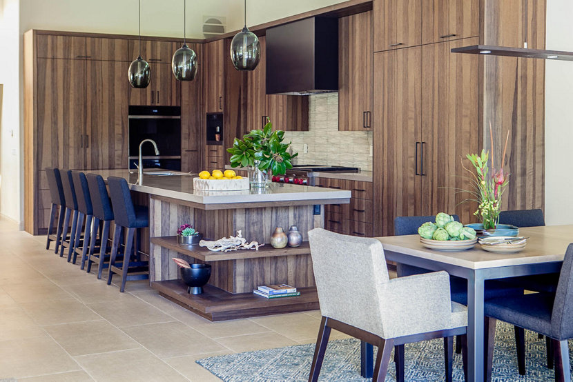 modern kitchen island pendant lights make statement in california home - Kitchen Island With Pendant Lights