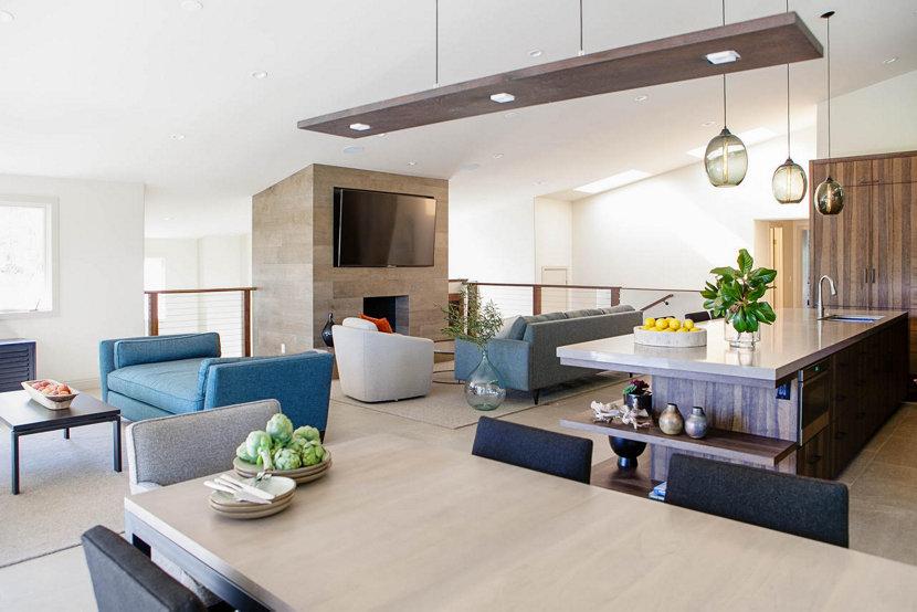 Modern Kitchen Island Pendant Lights   Gray Ellipse