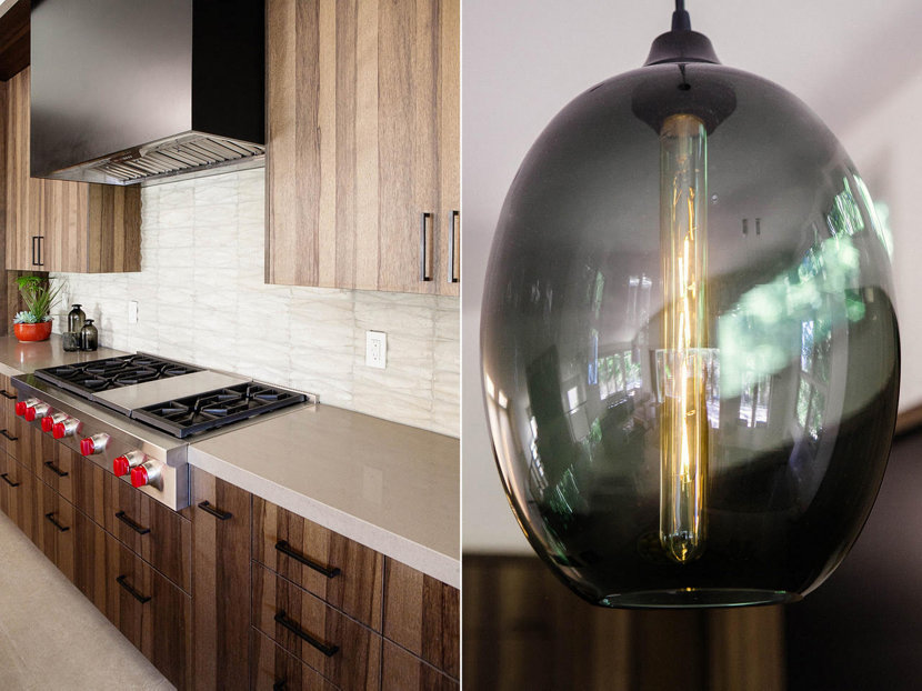 Modern Kitchen Island Pendant Lights - Gray Ellipse