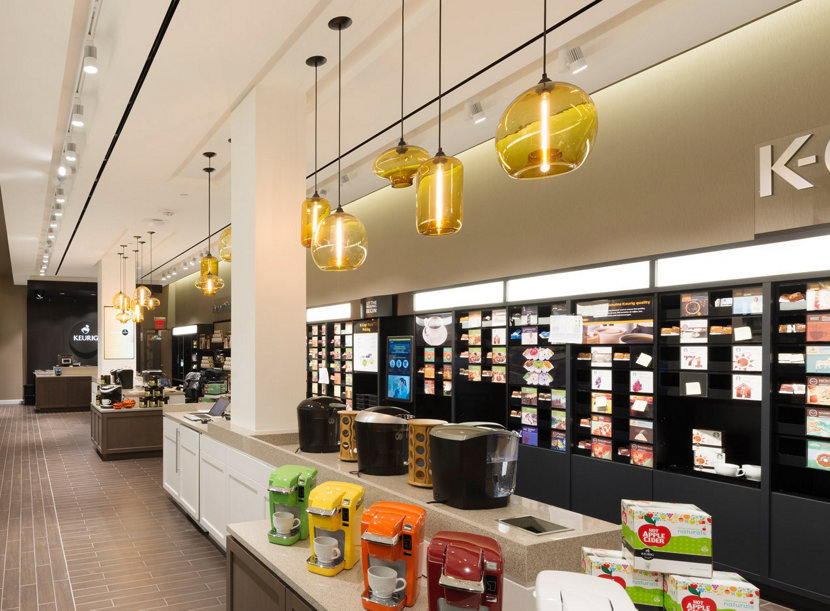 Keurig S Flagship Features Hand Crafted Retail Pendant