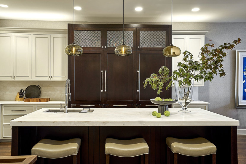 Kitchen Island Pendant Lights In Smoke Glass Aurora