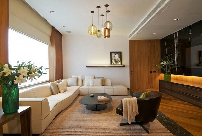 Living Room Hanging Lights 3 living room pendant lighting installations we love
