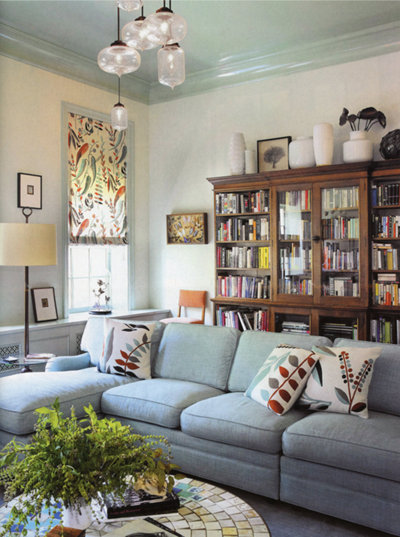 3 west village townhome designed by amy lau designs - Living Room Pendant