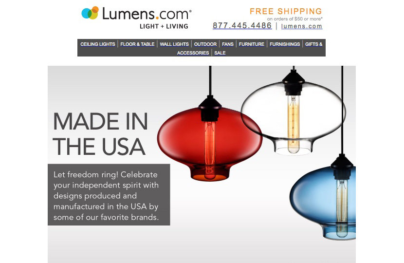 Niche Stargazer pendant lights on Lumens website