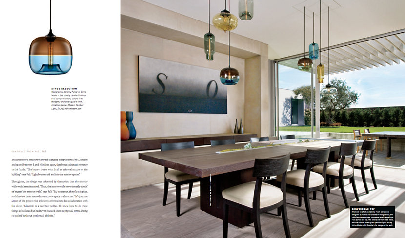 Modern Pendant Lights Cluster Inside Dining Room