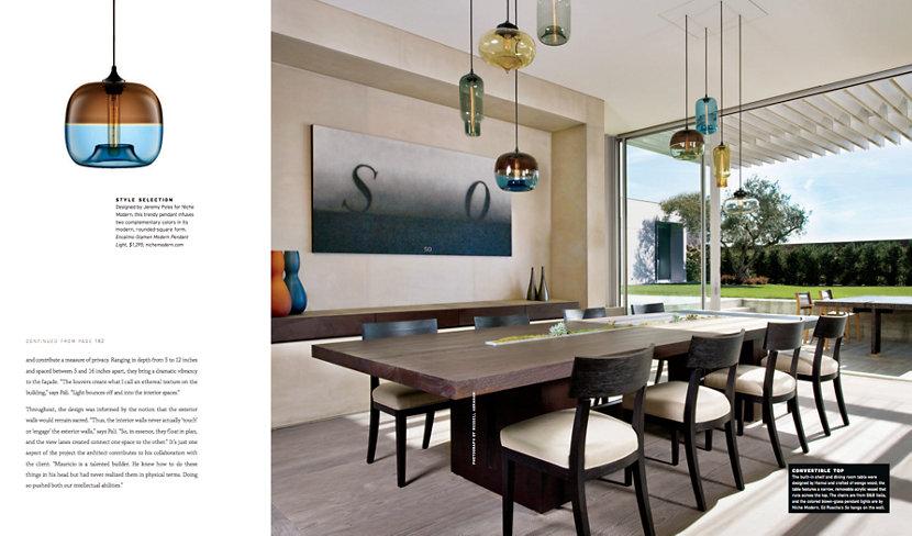 Modern Pendant Lights Cluster Inside Dining Room