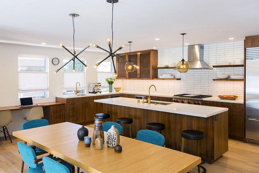 Amber Binary Modern Kitchen Island Pendant Lights
