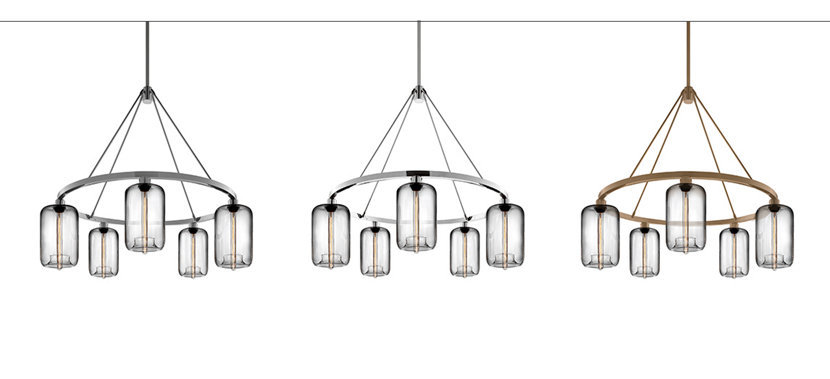 Metal Finishes for a Customizable Modern Chandelier