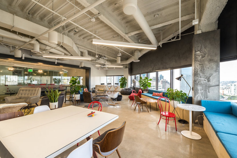 Modern Office Pendant Lights - MindTouch Conference Room