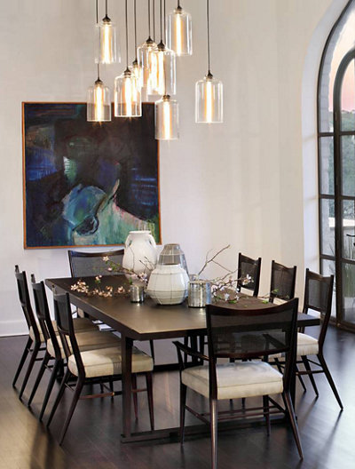3 ways to style dining room pendant lighting