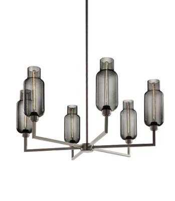 modern Gray glass chandelier