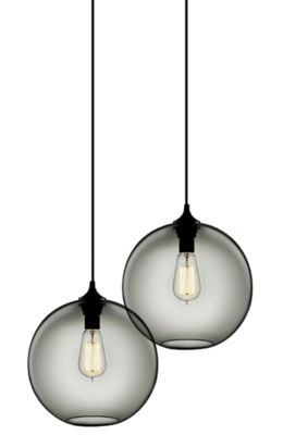modern Gray glass pendant lights