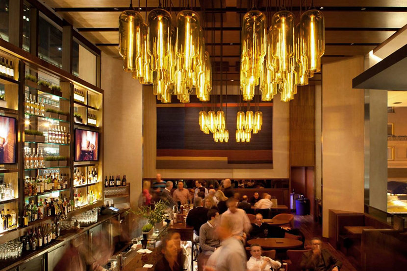 Clusters of Modern Hotel Pendant Lighting at Grand Hyatt San Francisco