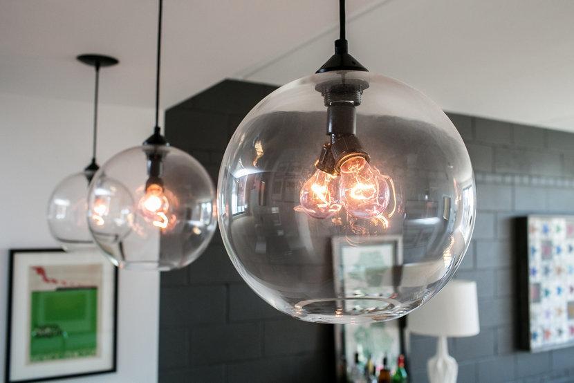 Modern Bar Pendant Lighting Close Up