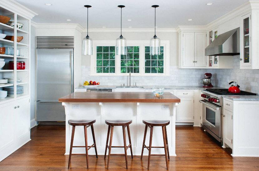 Chappaqua Residence Incorporates Niche Modern Kitchen Island lighting