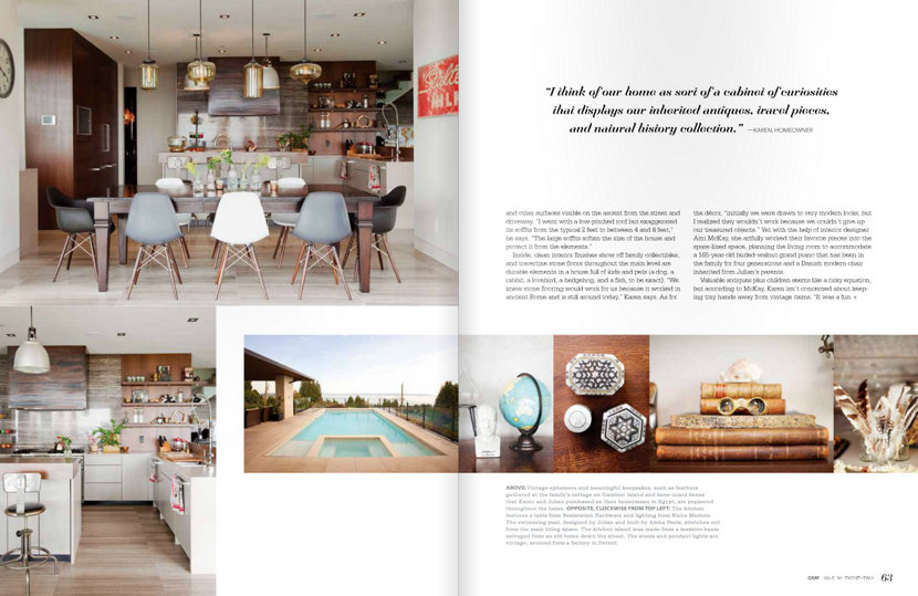 kitchen table pendant lighting in Gray Magazine