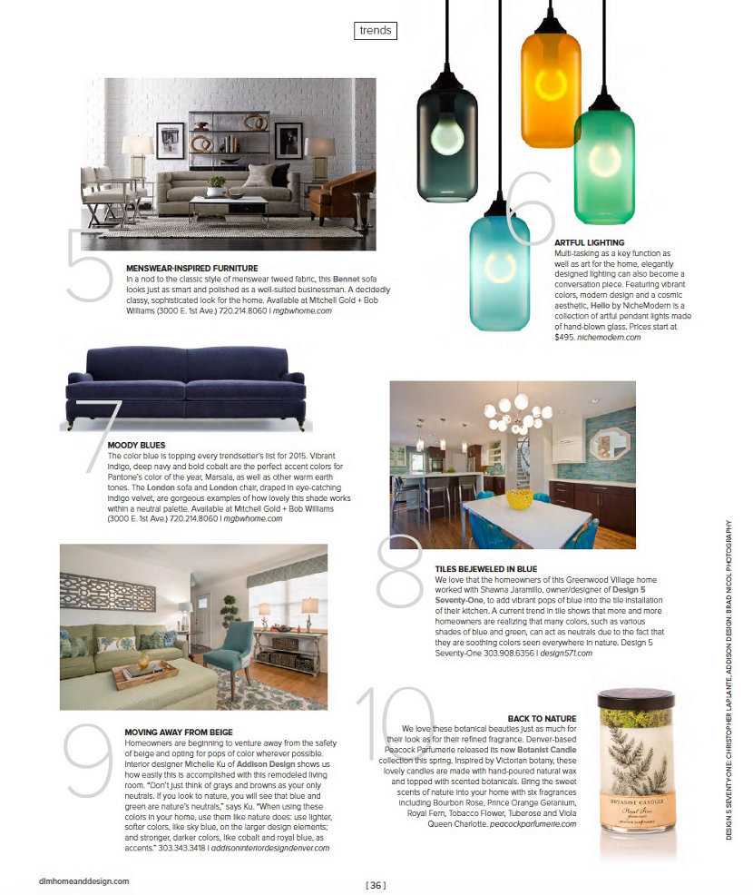 compact pendant lighting Denver Life Magazine spread