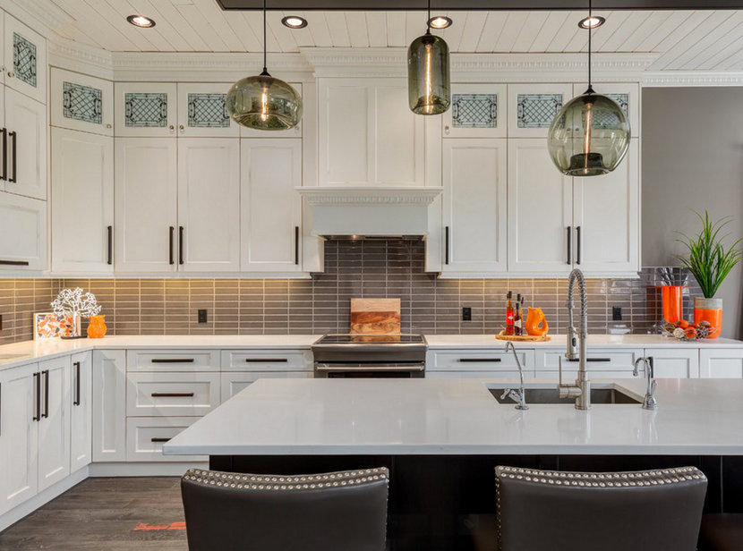 hand-blown glass kitchen island pendant lighting