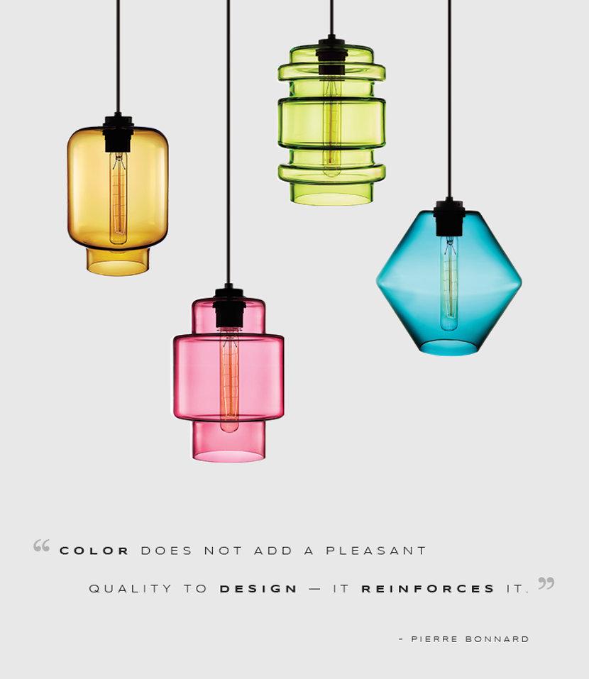Modern Pendant Lights in Crystalline Series