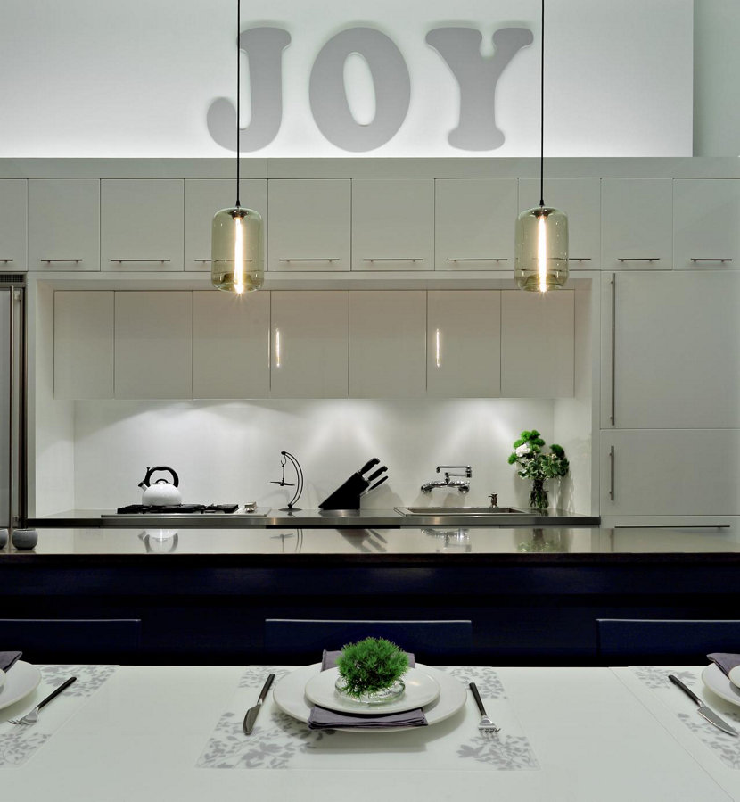 Modern Kitchen Lighting in NYC loft