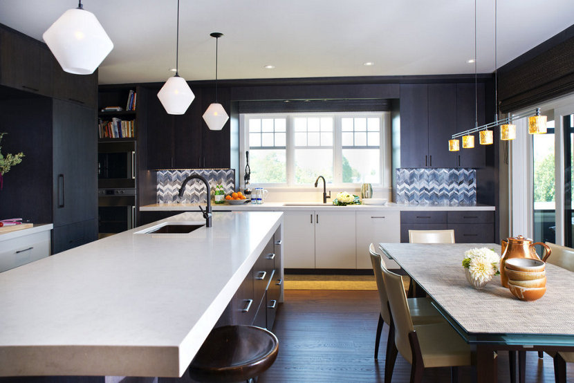 Bold Kitchen Island Pendant Lighting Shines Bright in Boston ...