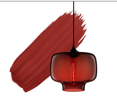 2018 Color of the Year - Crimson Pendant Light