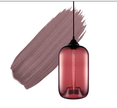 2018 Color of the Year - Plum Pendant Light