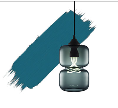 2018 Color of the Year - Storm Pendant Light