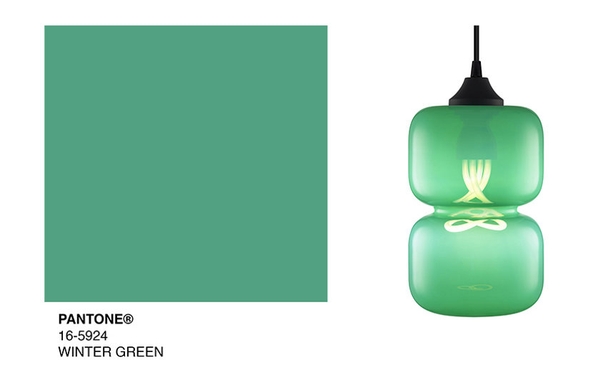 green pendant lights reflect pantone s color of the day