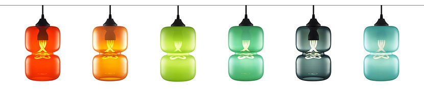 Pinch Modern Pendant Light in Chroma Colors
