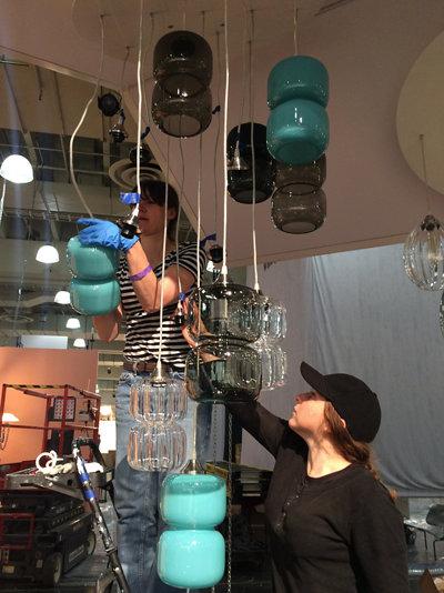 hanging modern glass pendant lighting
