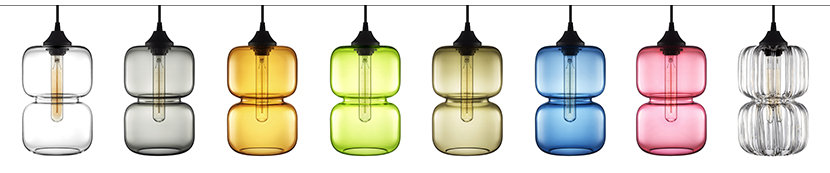 Pinch Modern Pendant Light in Prisma Colors