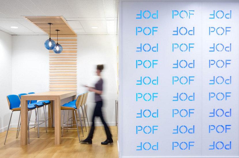 Modern Office Lighting in Plenty Of Fish Headquarters