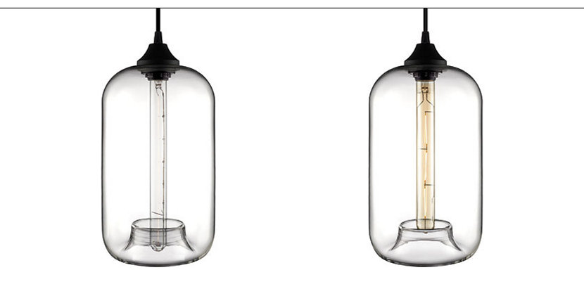 Pod Modern Pendant Light Lamping Options