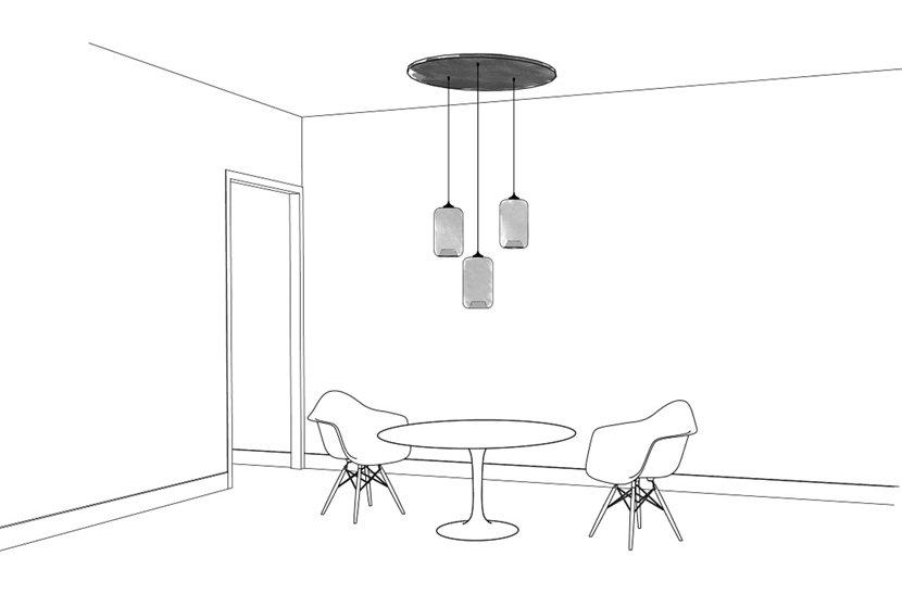 Pod Modern Pendant Light - Canopy