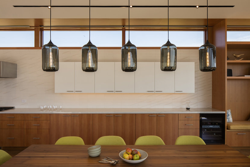 Gray Pod Pendants - Modern Pendant Lighting Featured in Dining Room