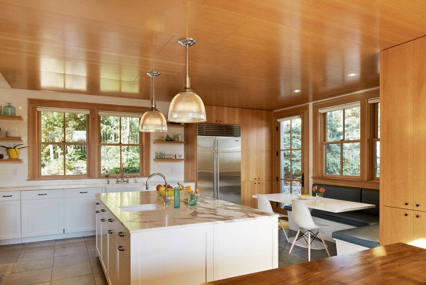 Kitchen of Sands Point House by architect Ole Sondresen