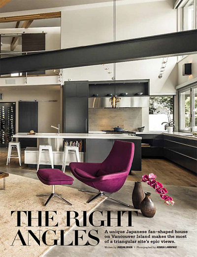 The Right Angles in Gray Magazine Featuring Niche Modern Kitchen Pendant Lighting